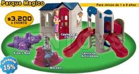 Alquiler de Plazas blandas y Casitas para chicos