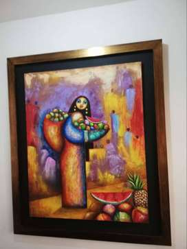 Hemososa, Pintura al óleo original del MAESTRO HUERTAS.