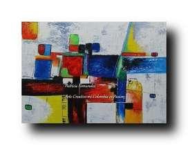 Abstractos al Oleo 170.000 Hoy Precio Feria Hogar: 120.000