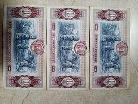 Billetes diez pesos serie consecutiva en muy buen estado