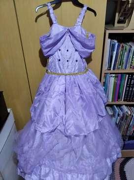 Vestido princesa color lavanda