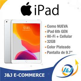Como Nueva Apple iPad 6 32GB 2018 Wifi + Cellular 4g Lte Simcard