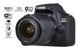Camara Canon 4000D Con 18-55 + Estuche + Memoria de 32gb