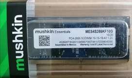 Memoria RAM 16 GB Mushkin portátil DDR4 pc4-2666