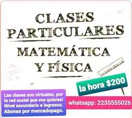 Física y matemática clases particulares
