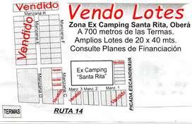Vendo Lotes Zona Ex Camping Santa Rita