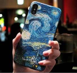 ESPECTACULAR Case IPHONE Noche Estrellada -Van Gogh En ALTO Relieve
