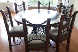 Juego de comedor (mesa redonda)