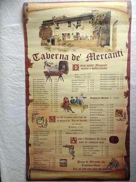 Lámina/  Póster Taberna De Mercanti.orig. Italia para Enmarcar/ Cuadro