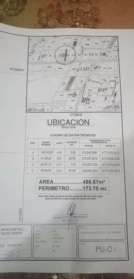 Terreno Céntrico 120$ Metro cuadrado