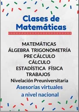 Profesor de Matemáticas Colegio y Universidad
