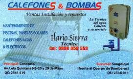 CALEFONES A GAS  Y BOMBAS DE AGUA