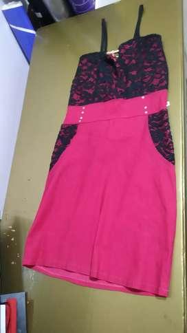 Vestido Rosado Chillón