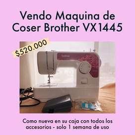 Maquina de Coser BROTHER VX1445 - Usada como nueva en su caja