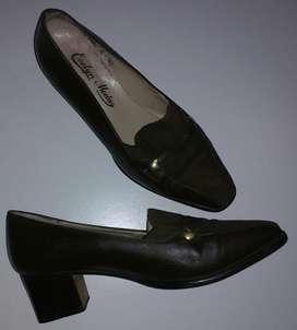 Mocasines Zapatos Mujer Cuero Gamuza 37 Zpm2018