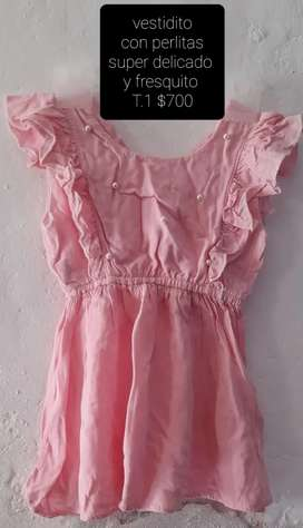 Vendo vestido de nena talle 1