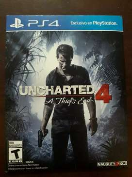 Vendo uncharted 4 para ps4
