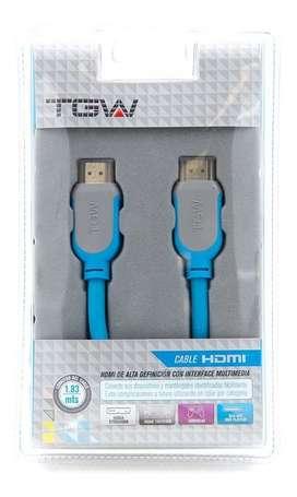 Cable Hdmi Marca Tgw 1,83 Mts 3d 4k Ethernet - San Martin