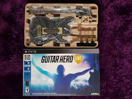 Guitarra NUEVA GUITAR HERO PS3 + CD Juego Guitar Hero Live
