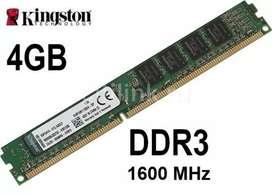 Vendo nenoria 4gb ddr3 y disco rigido de 360 gb