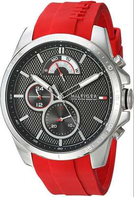 Reloj Hombre Tommy Hilfiger Deportivo Pulso Rojo 1791351