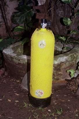 Botellón (tanque) para buceo-uso o decoración
