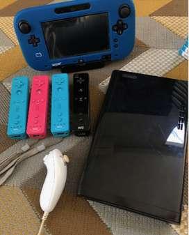 Nintendo Wii U con muchos juegos y accesorios