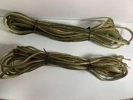 Cables para parlantes, bafles.
