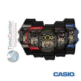Reloj Casio Digital, Hora Mundial, Para Hombre Ae-1300wh