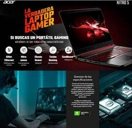 Computador Portátil Acer 15.6 pulgadas Gaming Intel Core i5 12GB 512GB SSD AN515-54-55MX