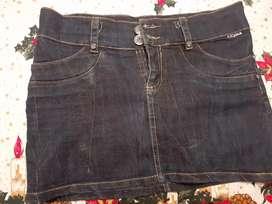 Falda en jean