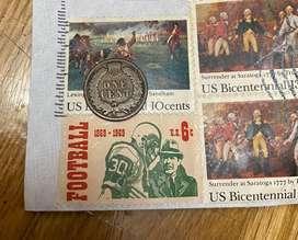 Moneda Norteamricana de 1 cent 1883