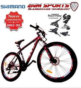 Bicicleta Nueva Aluminio SHIMANO 24 Velocidades, Todo Terreno, Suspensión Hidráulica Originales Todoterreno Garantizadas