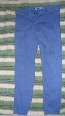 Pantalón de jean chupín azul mujer Mine Jeans