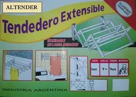 Tendedero Extensibles De Aluminio Templado 1mt