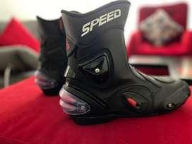 Botas Protección Motociclista Speed Biker + Accesorios