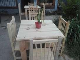 Nuevas bellezas.!!juego mesa y 4 sillas $3300.mesa y 6sillas $5200