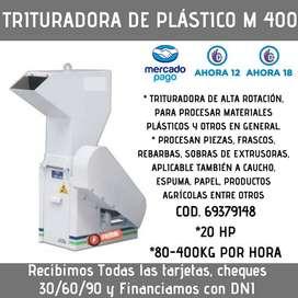 TRITURADORA DE PLÁSTICO M400 400KG/HORA