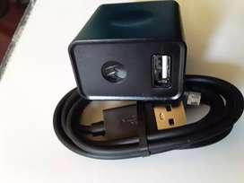 Cargador tipo original turbo power Motorola