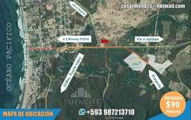 TERRENOS DESDE 170M2 CON 90 USD DE ENTRADA, CREDITO DIRECTO-APROBACIÓN INMEDIATA, PUERTO CAYO MANABI, SD1