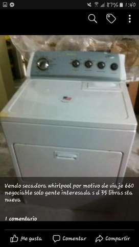 Secadora Whirpool a gas