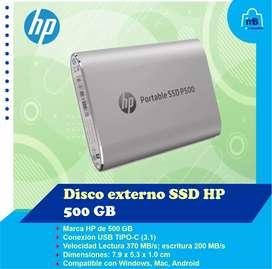 Disco Externo de Estado Solido SSD de 500 gb
