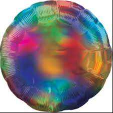 Globo Metalizado Corazon Rainbow Splash 45 cm