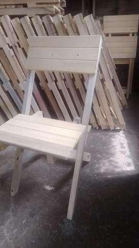 Preciosas y reforzadassillas plegables400 y silla comedor 480