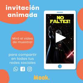 Star Wars Clone Wars Invitación Animada en Video