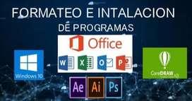 formateo e instalacion de programas