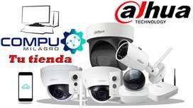 Kit 2 4 6 8 10 Cámara Seguridad Vigilancia 720p marca Dahua Desde $149,99