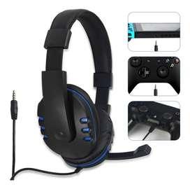 Audífonos Diadema Ps4 Dobe Con Micrófono 1 Plug