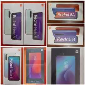 Xiaomi Redmi 8A, Redmi 8, Note 8, Note 8 Pro, Mi A3, Mi 9T NUEVOS .