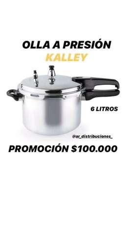 OLLA A PRESION KALLEY ( 6 LITROS  )
